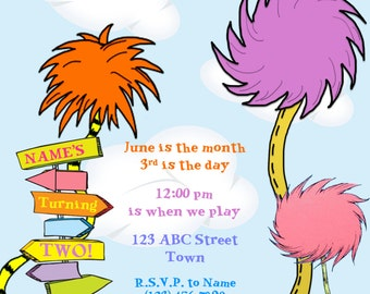 Dr. Suess Birthday Invitation