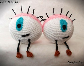 Eye 12 oz. Mouse Crochet Toy