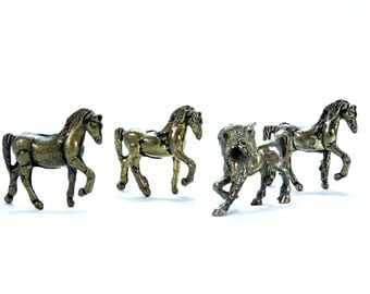 Vintage Brass Horse - Brass little horses - Brass Horse - Horse Figurine - Horse decor - Collectible Horse - Gift for horse lover