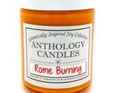 Rome Burning Candle - Anthology Candles, Whimsically Inspired Candle, Disney Candle, 8 oz Jar