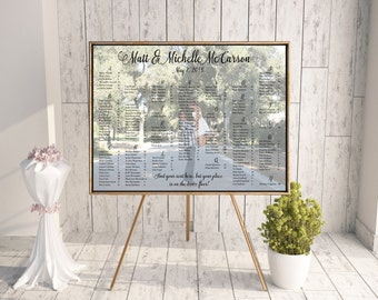 Customized Printable Wedding Seating Plan, Printable Wedding Seating Chart, Alphabetized Seating Chart, Custom Photo Seating Chart
