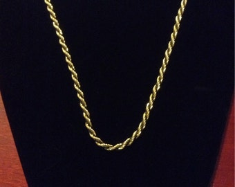 Gold and Black Rope Necklace