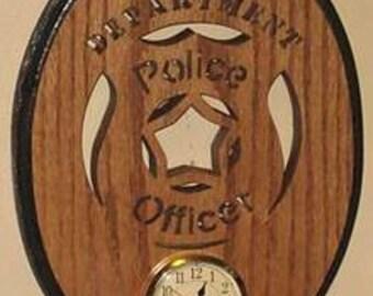 Police Officer Oval Clock