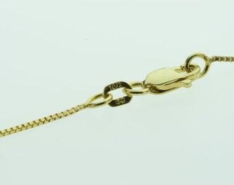 14K Box Chain Tassel Necklace 17+2.5 Yellow Gold - EL4481