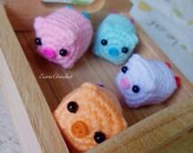 Amigurumi Cute Pig,mini crochet doll,kawaii crochet,keychain,bag charm,phone charm