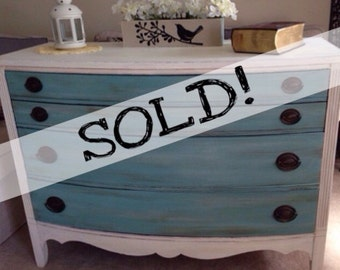 SOLD!!! Shabby Chic Distressed Dresser / Credenza * Vintage * Free NYC Delivery!