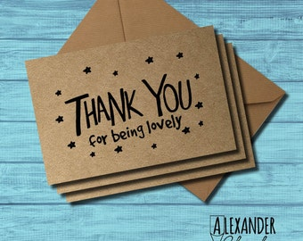 Thank You For Being Lovely Card (pack of 3)