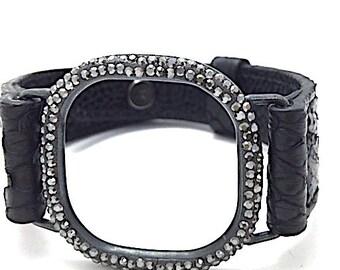 Python Swarovski Square Bracelet