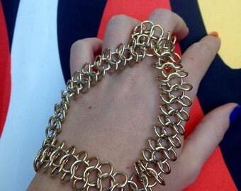 Handchain, gold, hand, chain, gold Handchain, accessory