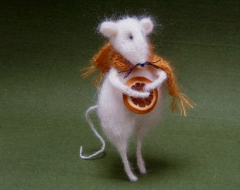 miniature mouse,needle mouse,art and collectibles,eco gift,fairy,mice,dolls & miniatures, figurine,,stuffed animal,art doll