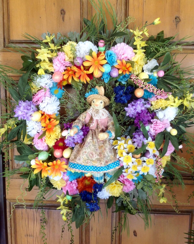 Easter Wreath Spring Wreath Large Front Door Wreath