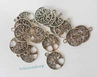 Tree of Life pendant charms 6 pcs