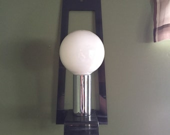 Mid Century Smoked Lucite & Chrome Wall Sconce Lamp