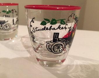 "Mid Century Libbey ""Studebaker"" Shot Glasses Set of 7"