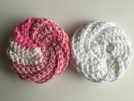 Snap Spiral Crochet Tawashi Scrubbies Pink And By Cozykitchenknits