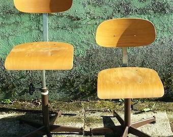 French work swivel school  desk chair.