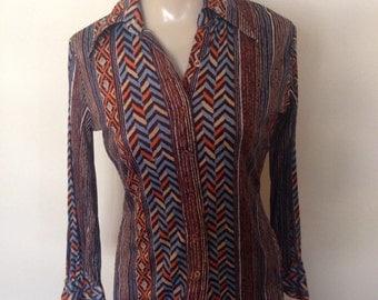 1970's Polyester Disco Shirt