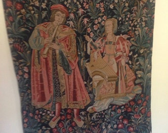 Very Large Vintage Wall Tapestry