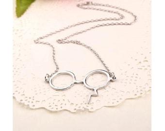 Harry Potter  Lightning Scar Modern Design Geek Glasses Pendant. Fast shipping from USA