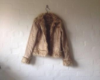 tan penny lane fur coat