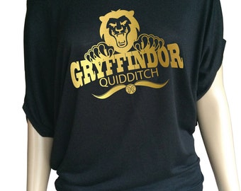Harry potter  inspired Gryffindor Quidditch, Lady's loose top.