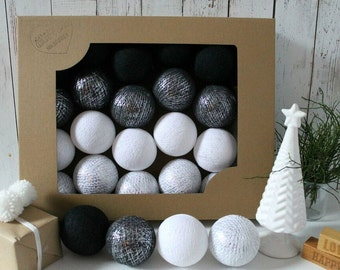 Cotton Balls Silver Winter 10 items