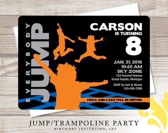 JUMP! . birthday invitation