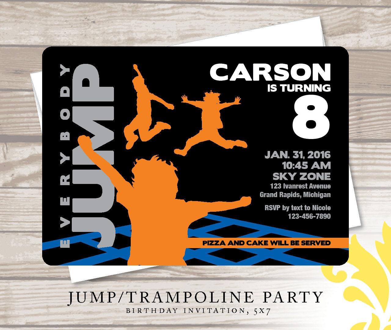 JUMP . Birthday Invitation