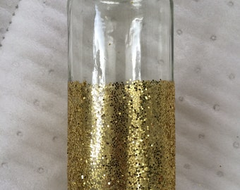 Gold Glitter Vases and Candle Holders