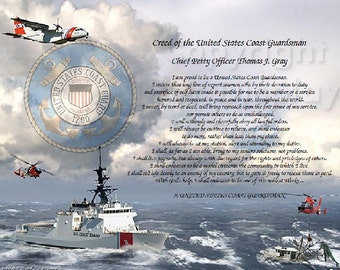 Creed of The U.S. Coast Guardsman Personalized Print