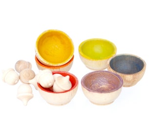 Color Sorting Stacking Bowls
