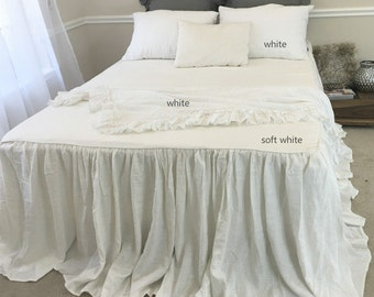 Soft white bedspread, off white bedspread, off white bedding, white bedspread queen king twin full