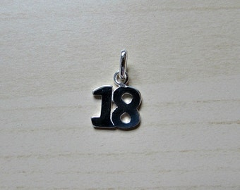 Sterling Silver (925) 18 Charm