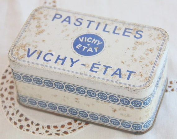 Vintage French Vichy Pastilles Advertising Tin