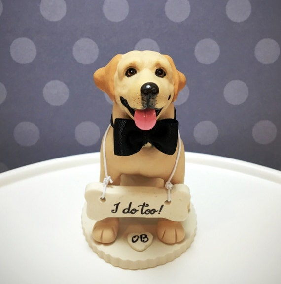 4-6 Custom Yellow Labrador Custom Wedding Cake by ...
