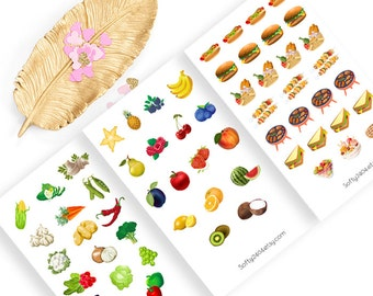 Picnic Sticker, food sticker, life planner sticker for kikki k, filofax or erin condren