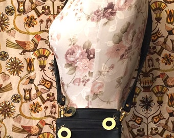 Vintage 1980s Black Gold LION Shoulder Bag Purse Handbag NIMA Retro Novelty Purse