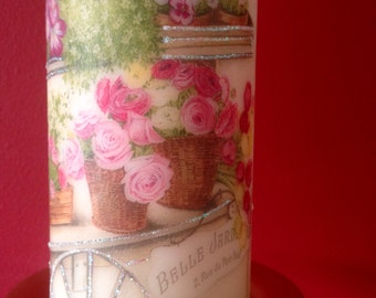 Decorated candle, Personalized Candle, Home Decor, Gifts, Pillar Candle,