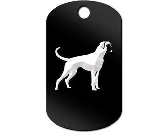 Boxer Engraved GI Tag Key Chain Dog Tag - MDT-578