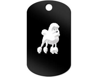 Poodle Engraved GI Tag Key Chain Dog Tag v3 standard - MDT-954