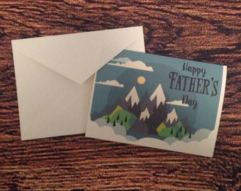 Mountain father day card