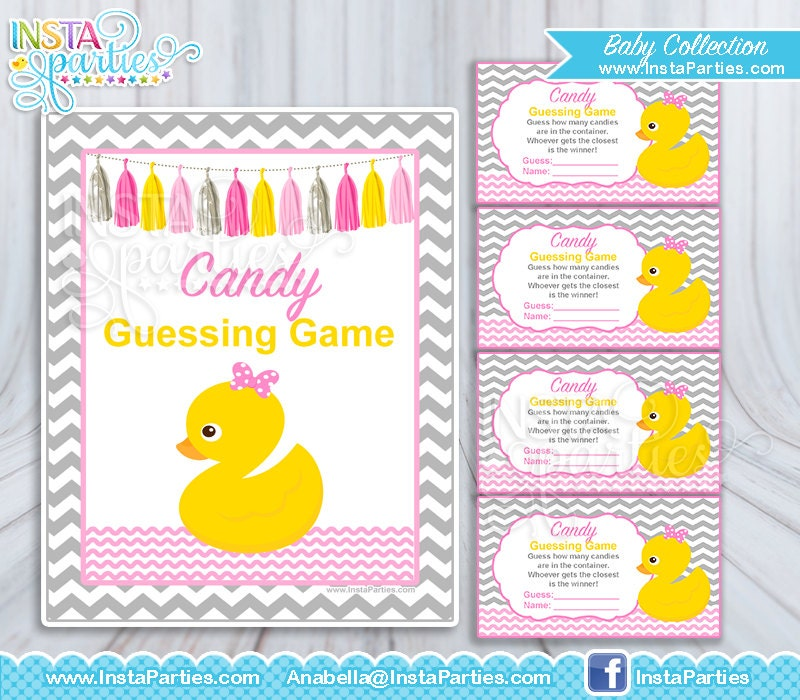 baby shower games guess candy jar tickets girl baby shower