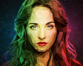 Custom Low Poly Portrait from your Photo