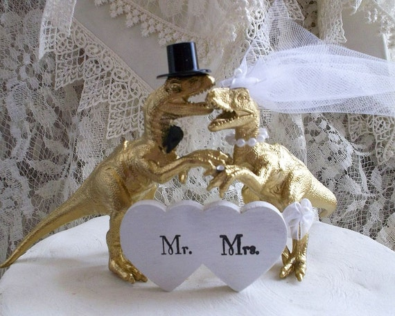 gold dinosaur wedding cake topper dinosaur wedding cake topper t rex cake topper jurassic 14751
