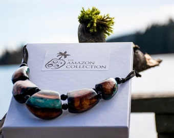 Tagua Collection Necklace 0080 with earrings