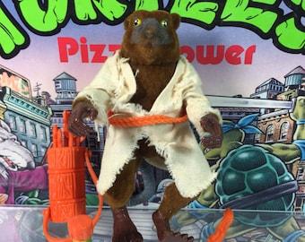 Vintage 1992 Movie Star Splinter the rat TMNT The Movie III Teenage Mutant Ninja Turtles action figure with weapons