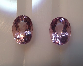Pink Morganite Matching Ovals 1.66ct