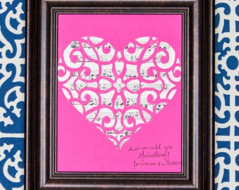 Let Me Call You Sweetheart Music Silhouette Art Print