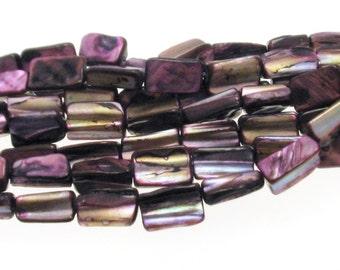 Natural Purple Dyed Shell Beads Irregular Shape 8x15mm , Natural Sea Shell Beads, Shell Beads, Violet shell beads