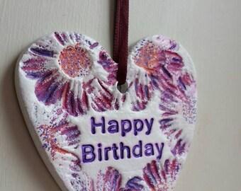 "Flowers Heart ""happy birthday"""